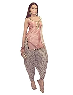 1 Stop Fashion Pink UnStitched Patiyala Salwar Kameez
