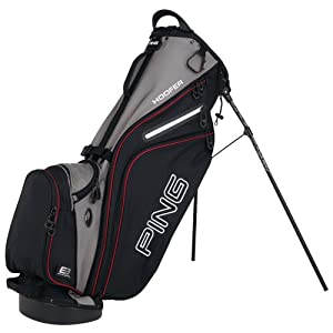 Ping Hoofer Stand Bag : Black - Charcoal - Inferno Red