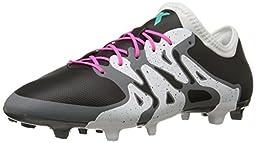 adidas Performance Men\'s X 15.2 FG/AG Soccer Cleat,Black/Shock Mint/White,9.5 M US