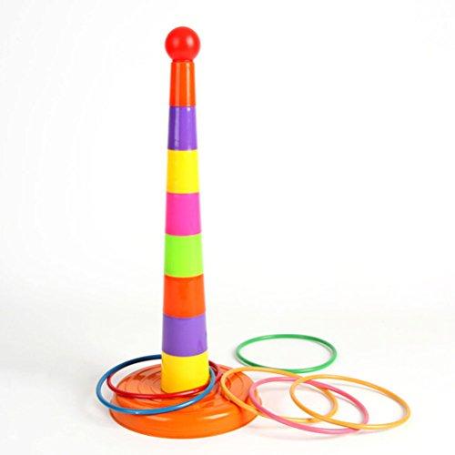 Tinksky Juego de Puntería Lanzamiento de Anillos Juguetes Conjunto - Multicolor