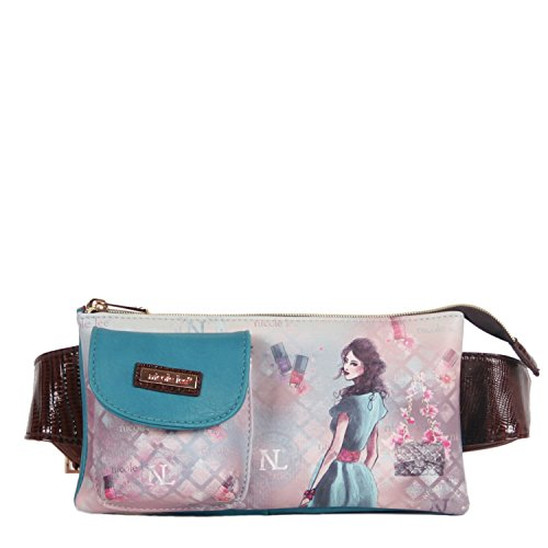 nicole-lee-fanny-pack-blue-one-size