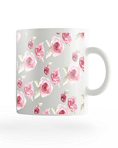 PosterGuy Pink Flower Pretty White Ceramic Coffee Mug