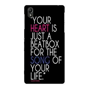 AJAYENTERPRISES Your Is Heart Back Case Cover for Sony Xperia Z2