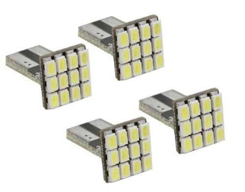 Cutequeen Led Car Lights Bulb Red T15 1206 12-Smd 906 579 901 904 908 909 912 914 915 916 917 918 920 921 922 923 926 927 928 939 (Pack Of 4)