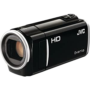 JVC GZ-HM50 HD Everio Memory Camcorder, 40x Optical Zoom, 2.7 inch LCD, 8GB Built-in Flash Memory, Face Detection, SD/SDHC/SDXC Card Slot, Black