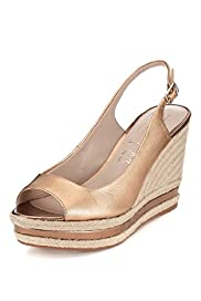 Autograph Leather Espadrille Wedge Shoes with Insolia