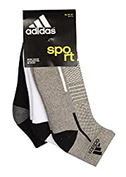 Adidas Half Cushion High Ankle Socks AD415(G Mel/White/Black) Pack of 3