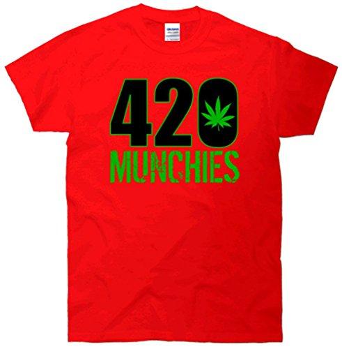420 Munchies Weed Leaf T-Shirt