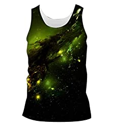 Snoogg Abstract Space Mens Casual Beach Fitness Vests Tank Tops Sleeveless T shirts