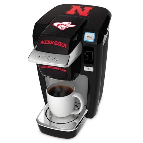 Keurig K10 Black Mini Plus Single Cup Personal Brewer With University Of Nebraska Decal Kit