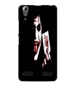 PrintDhaba Joker D-4849 Back Case Cover for LENOVO A6000 (Multi-Coloured)