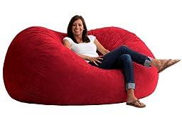 Big Joe XL Fuf in Comfort Suede, Sierra Red