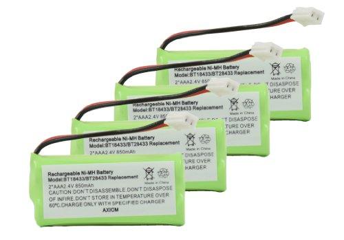 4Pack Axiom Cordless Phone Battery For Uniden Bt-101 Bt-1011 Bt-8001 Bt-8300 Bt-6010
