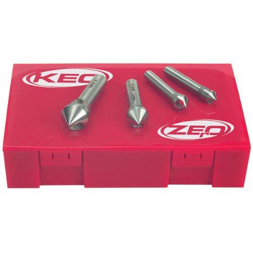 KEO Zero Flute M35 Cobalt Countersinks & Deburring Tools Set - M35 cobalt Included 82 Degrees 4 Piece (Keo Cutters compare prices)