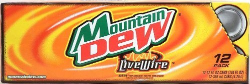 Mountain Dew Live Wire, Dew sparked with orange, 12-pack 12-ounce cans, Fridge Pack Shape by Mountain Dew Live Wire (Mountain Dew Live Wire compare prices)