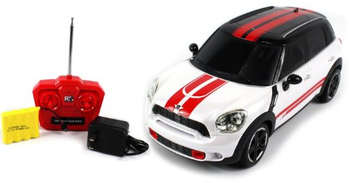 Licensed Mini J. Cooper Works Countryman Electric Rc Car 1:18 Rtr (Colors May Vary) (Comes With A Free Velocity Toys Decal)