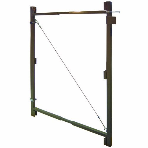 Adjust-A-Gate AG 36-3 3-Rail Contractor Quality Gate Kit, 36-Inch to 60-Inch by 60-Inch Height