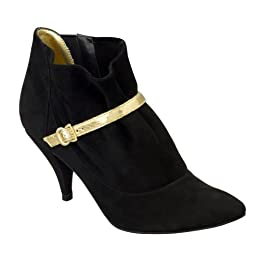 Sigerson Morrison for Target Electtra Suede Booties - Black/ Gold : Target from target.com