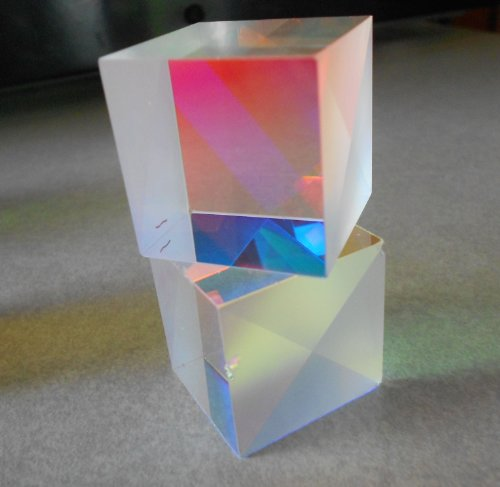Color Combining Dichroic Beam Splitter Glass Cube - 27 X 27 X 25 Mm
