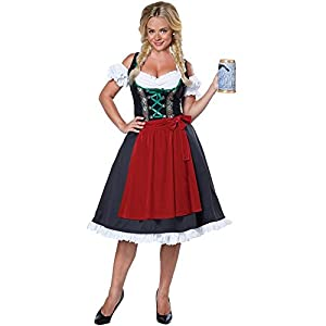 California Costumes Women's Oktoberfest Fraulein, Black/Red, Medium