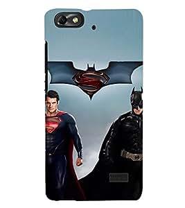 D KAUR Superhero Fans Back Case Cover for Huawei Honor 4C