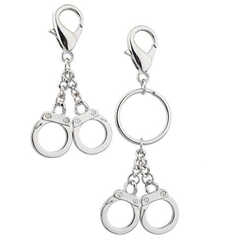 lux-zubehor-silvertone-hand-manschette-partner-in-crime-forever-schlusselanhanger-set-2pc
