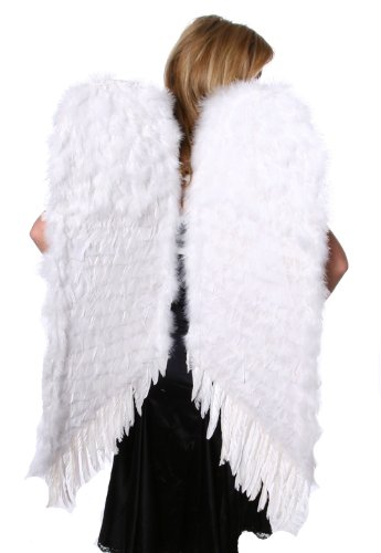 Zucker Feather Products Decorative Feather Angel Wings, Large, White