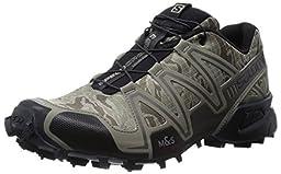 Salomon Men\'s Speedcross 3 Mountain Trail, Camo Titanium/Dark Titanium/Swamp, 9 M US