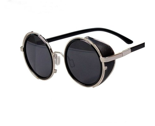 Arctic Star 80's Style Vintage Style Inspired Classic Round Sunglasses Very Popular (Silver frame) (Vintage Glasses 80 compare prices)