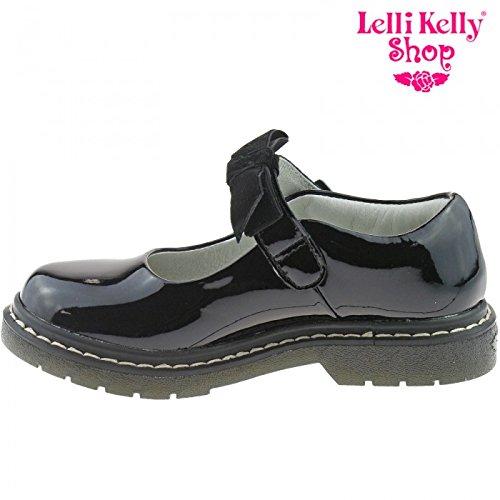 Lelli Kelly Nero Brevetto Frankie Dolly scarpe per la scuola lk8286(DB01), Lk Frankie, Nero
