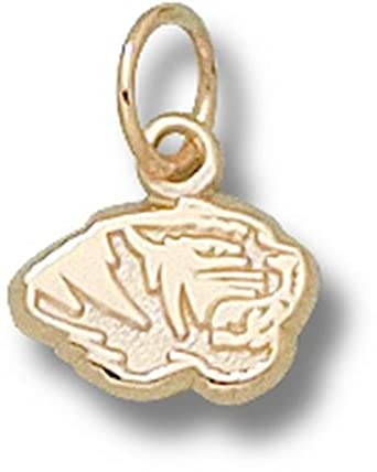 Missouri Tigers Tiger Head 1 4 Charm - 14KT Gold Jewelry by Logo Art