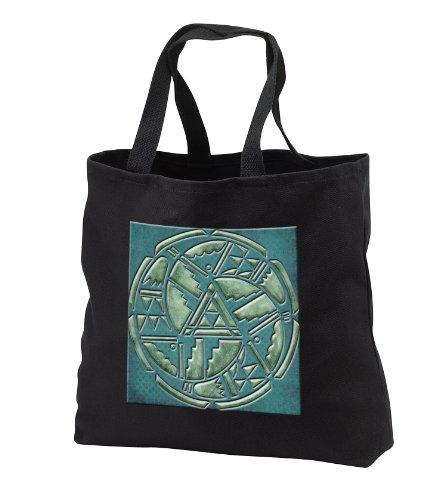 Tb_108091_3 Spiritual Awakenings Native American - Designer One Of A Kind Native American Art - Tote Bags - Black Tote Bag Jumbo 20W X 15H X 5D