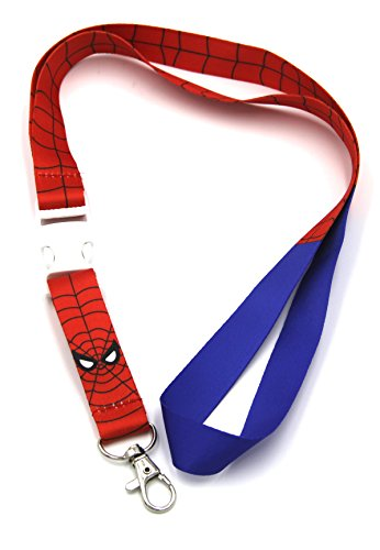Marvel Spider-man Lanyard Necklace ID Holder Keychain LICENSED New