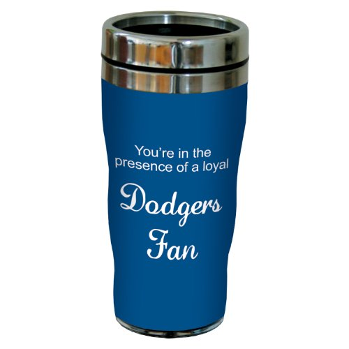 Tree-Free Greetings Sg24091 Dodgers Baseball Fan Sip 'N Go Stainless Steel Lined Travel Tumbler, 16-Ounce