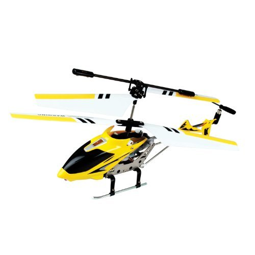 Protocol Tigerjet Indoor 3 Channel Remote Control Helicopter with Gyro Yellow