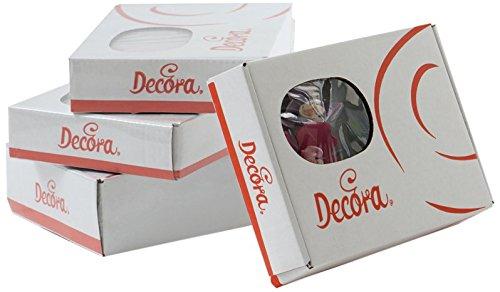 decora-paquet-12-azalee-blanc-avec-centre-peche-240-g