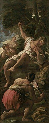 canvas-prints-of-oil-painting-giordano-luca-hercules-en-la-pira-ca-1697-24-x-60-inch-61-x-152-cm-hig
