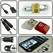 CLASSICO 1 OTG CABLE+1 DATA CUM CHARGING CABLE+1 AUX CABLE+1 MICRO USB CARD READER+1 CAR CHARGER+1 SIM ADAPTER...