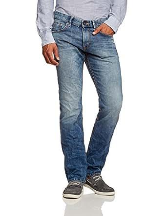 TOM TAILOR Denim - slim straight denim/406 62020500012 Jeans Homme - Bleu (moon wash mid blue denim 1296) - FR : W28/L32 (Taille fabricant : 28/32)