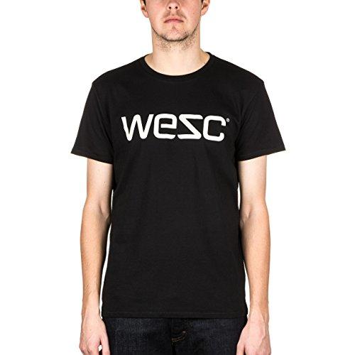 T-Shirt Wesc Fa15 Logo Nero-Beige (S , Nero)