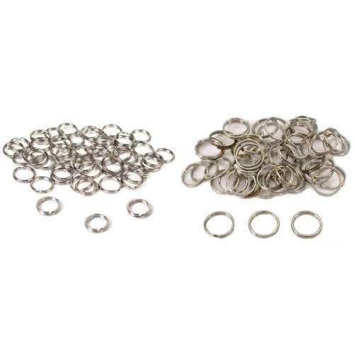 Nickel Plated Split Rings For Connecting Jewelry 9mm & 12mm Kit 100 Pcs (12mm Split Rings compare prices)