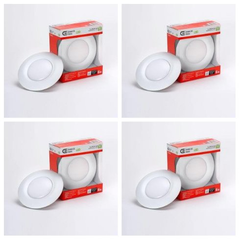T67/Commercial Electric 6 In. Recessed Soft White Led Disk Light-(4 Pack)