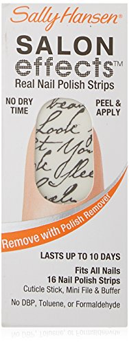 Sally Hansen Salon Effects Real Nail Polish Strips, Love Letter, 16 Count (Polish Strips compare prices)