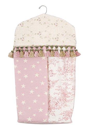 Glenna Jean Isabella Diaper Stacker, Pink/Green/Cream