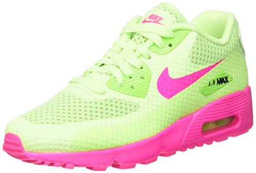 Nike Air Max 90 Br Gs Scarpe da Corsa, Bambine e Ragazze, Multicolore (Ghost Green/Pink Blast/Black), 37 1/2