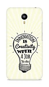 Amez Innovation is Creativity with a Job to do Back Cover For Meizum 2 Note
