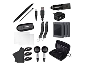 dreamGEAR 20 in 1 Essentials Kit for your Old Nintendo 3DS XL - Black