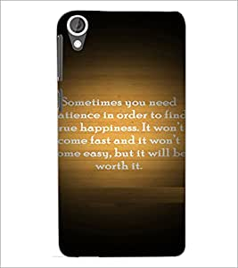 PrintDhaba Quote D-4922 Back Case Cover for HTC DESIRE 820 (Multi-Coloured)