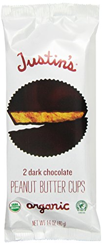 Justin's Organic Peanut Butter Cups, Dark Chocolate, 1.4-Ounce (Pack of 12)