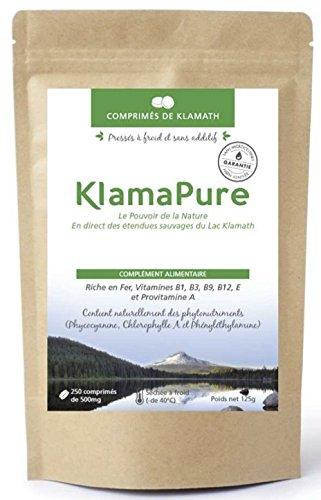 klamath-250-comprimes-klamapure-sechee-et-compressee-a-froid-sans-additif-certification-bio-organic-